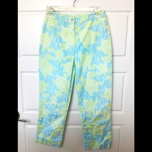 Lily Pulitzer Sea Turtle Ankle Pants. Size 0